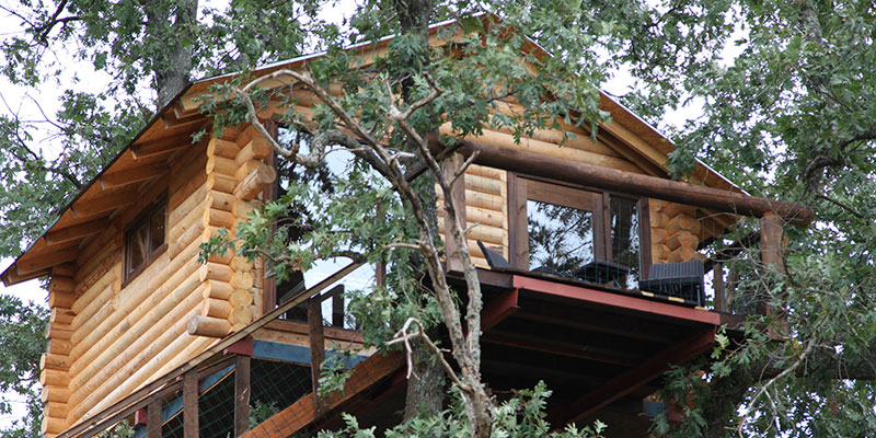 Dormir En Los Arboles Cabanas En Los Arboles De Extremadura - Cabaas-de-madera-en-arboles
